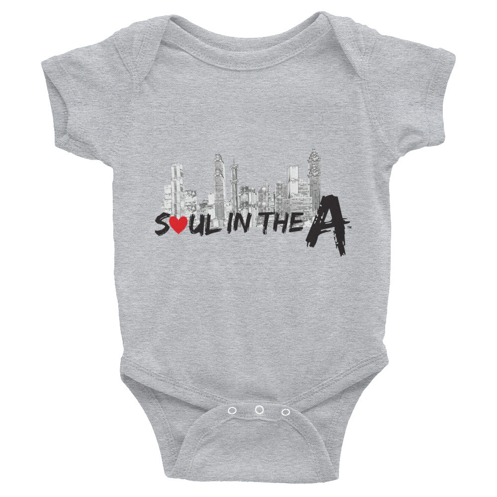 Soul in the A - Infant Bodysuit - Choose Grey, pink or white