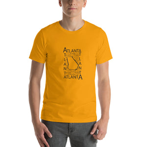 Atlanta, GA - Unisex Short-Sleeve Unisex T-Shirt - Pick a color (white, grey, gold, red)