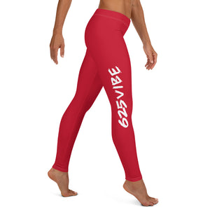 625Vibe Leggings - Red