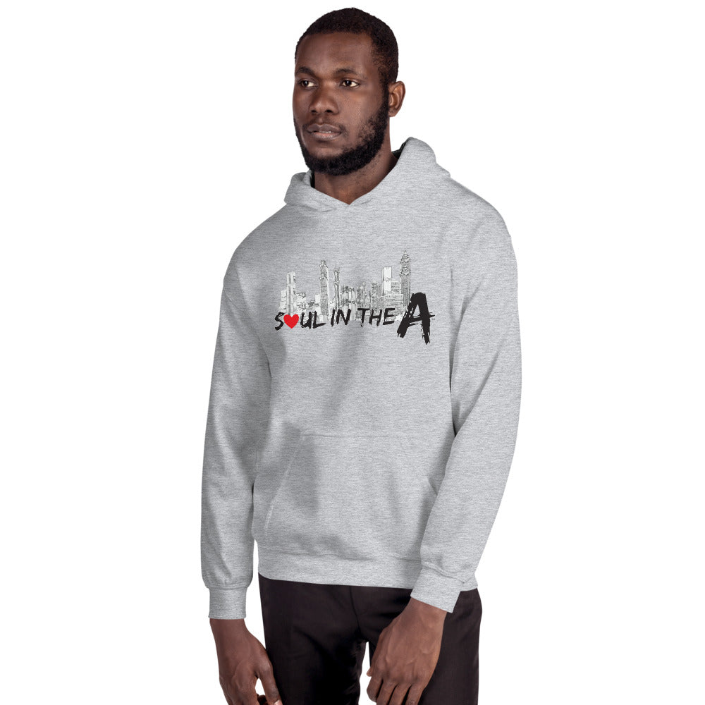 Soul in the A Unisex Hooded Sweatshirt - Grey