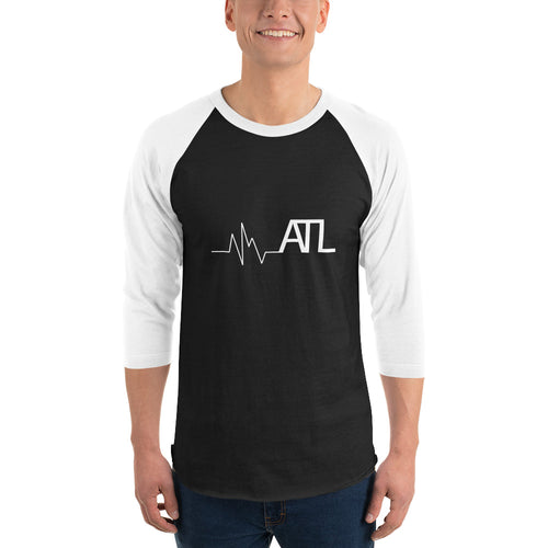 Heartbeat ATL Unisex - 3/4 sleeve raglan shirt - White Sleeves