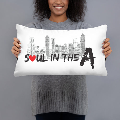 Soul in the A Throw Pillow - White