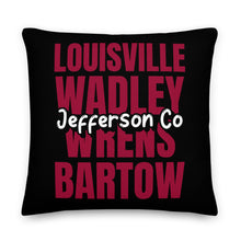 Load image into Gallery viewer, Jefferson County, GA Pride Premium Pillow - Select a Size