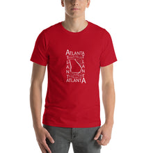 Load image into Gallery viewer, Atlanta,GA - Unisex Short-Sleeve Unisex T-Shirt - Pick a Color (black, red, green, blue)