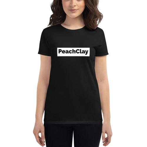 PeachClay Tee - Women's short sleeve fitted t-shirt - Black