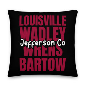 Jefferson County, GA Pride Premium Pillow - Select a Size