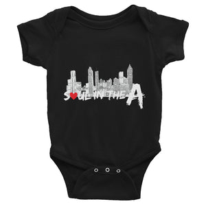 Soul in the A Infant Bodysuit - Black