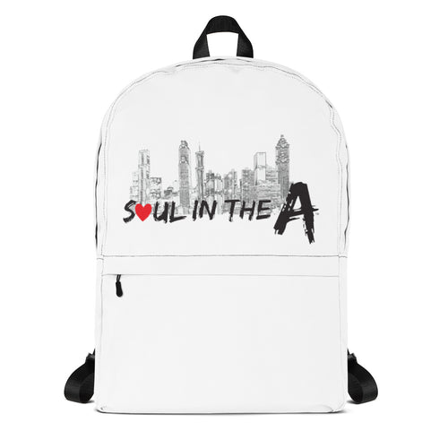 Soul in the A Backpack - White