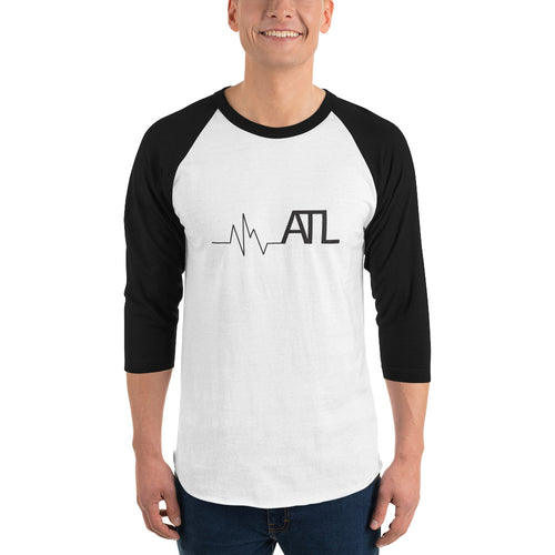 Heartbeat ATL Unisex 3/4 sleeve raglan shirt - Pick a color