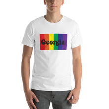 Load image into Gallery viewer, Rainbow Georgia Pride Short-Sleeve Unisex T-Shirt - Choose Black or White