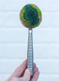 Vintage Striped Ice Cream Scoop | Pink + Green