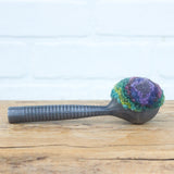 Vintage Striped Ice Cream Scoop | Purple + Green