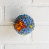 Mini Puff | Orange, Blues, Chartreuse and Green