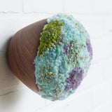 Puff Fiber Sculpture | Aqua + Purple + Green