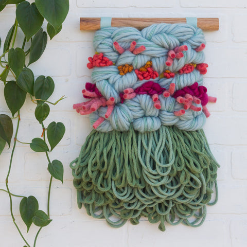 Textured Woven Wall Hanging | Spring Blooms