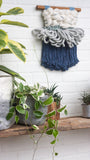 CLOUD 10 COLLECTION: Indigo + White Cloud | Woven Wall Hanging