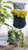 CLOUD 10 COLLECTION: Pine Green + Chartreuse Cloud | Woven Wall Hanging