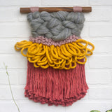 CLOUD 10 COLLECTION: Dusty Rose + Mustard Cloud | Woven Wall Hanging