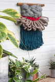 CLOUD 10 COLLECTION: Blue, Beige + Red Cloud | Woven Wall Hanging