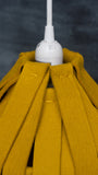 Mustard Felted Wool Pendant Lamp
