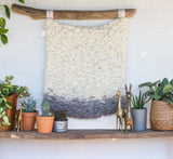 Neutral Wall Hanging, Natural Woven Wall Art, Boho Home Decor, Modern Weaving, Textile Design, Gender Neutral Nursery Art, Driftwood Decor