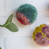 Puff Trio | Mini Trio in Mustard + Seafoam + Pink