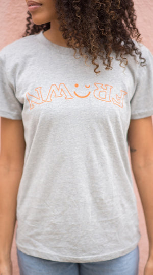 Original Gray T with Orange