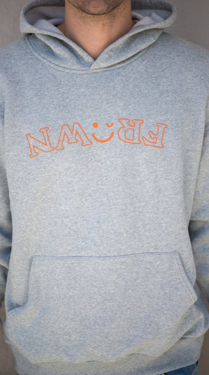 Original Gray Hoodie With Orange
