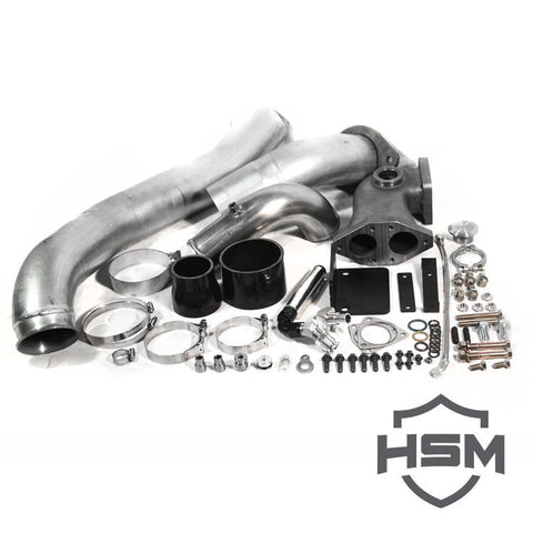 08-10 Ford 6.4L Single Turbo Kit W/O Turbo (Divided)
