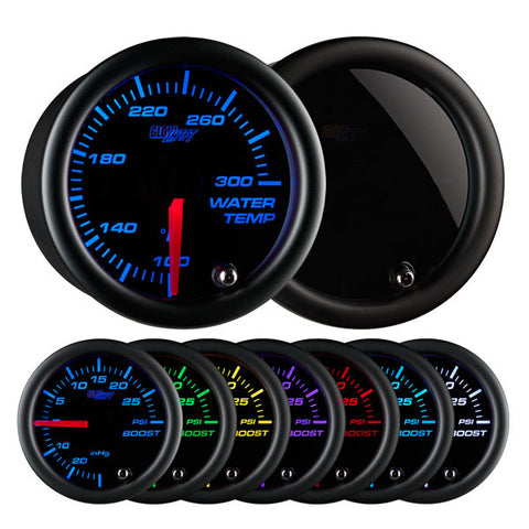 Tinted 7 Color Water Temperature Gauge