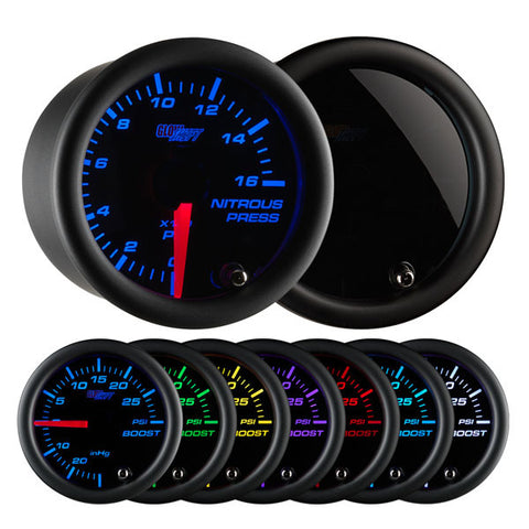 Tinted 7 Color Nitrous Pressure Gauge