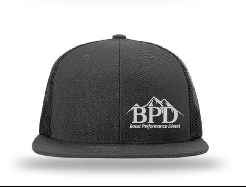 Black Flat Brim Hat