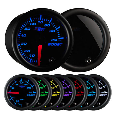 Tinted 7 Color 100 PSI Boost Gauge