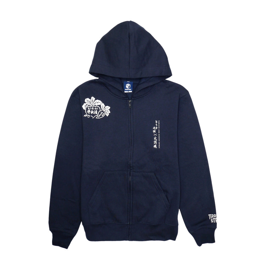 HIKESHI SPIRIT x Tori-Ichi Long-established ZIP HOODIE [订购的商品:大约发货前3周]