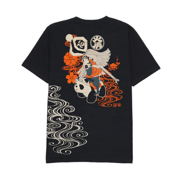 Asakusa Hanayashiki x Fire Extinguishing Soul Bear Cat Riding Slab TEE [It may take 2 to 3 weeks to ship]