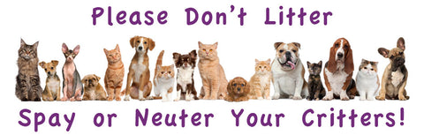 Spay or Neuter your critter