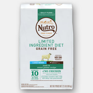 Nutro Limited Ingredient Diet Grain Free Lamb & Sweet Potato Large Breed Dry Dog Food