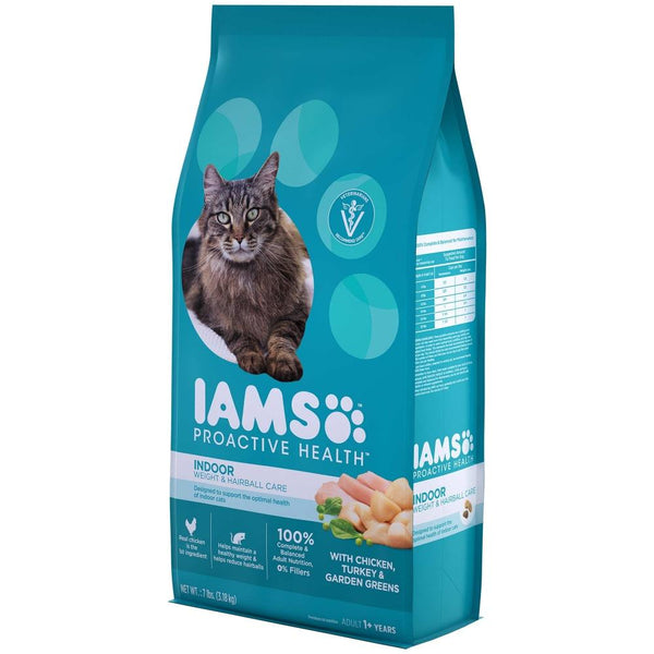 Iams Indoor Hairball Weight Control Dry Cat Food  Side