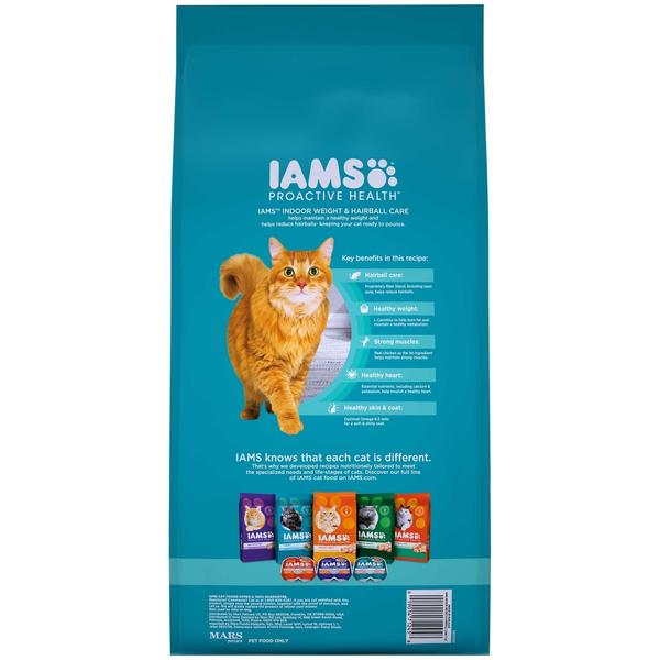 Iams Indoor Hairball Weight Control Dry Cat Food  Back