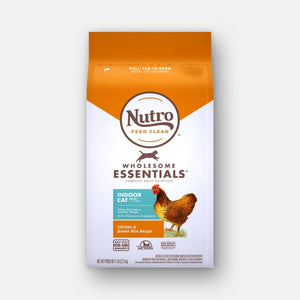 Nutro Wholesome Essentials Adult Indoor Formula with Chicken and Brown Rice Recipe Dry Cat Food