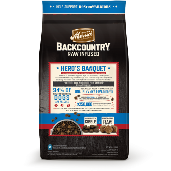 Merrick Backcountry Grain Free Hero's Banquet Dry Dog Food Back