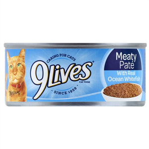9 Lives Meaty Pate Ocean Whitefish Dinner Wet Cat Food