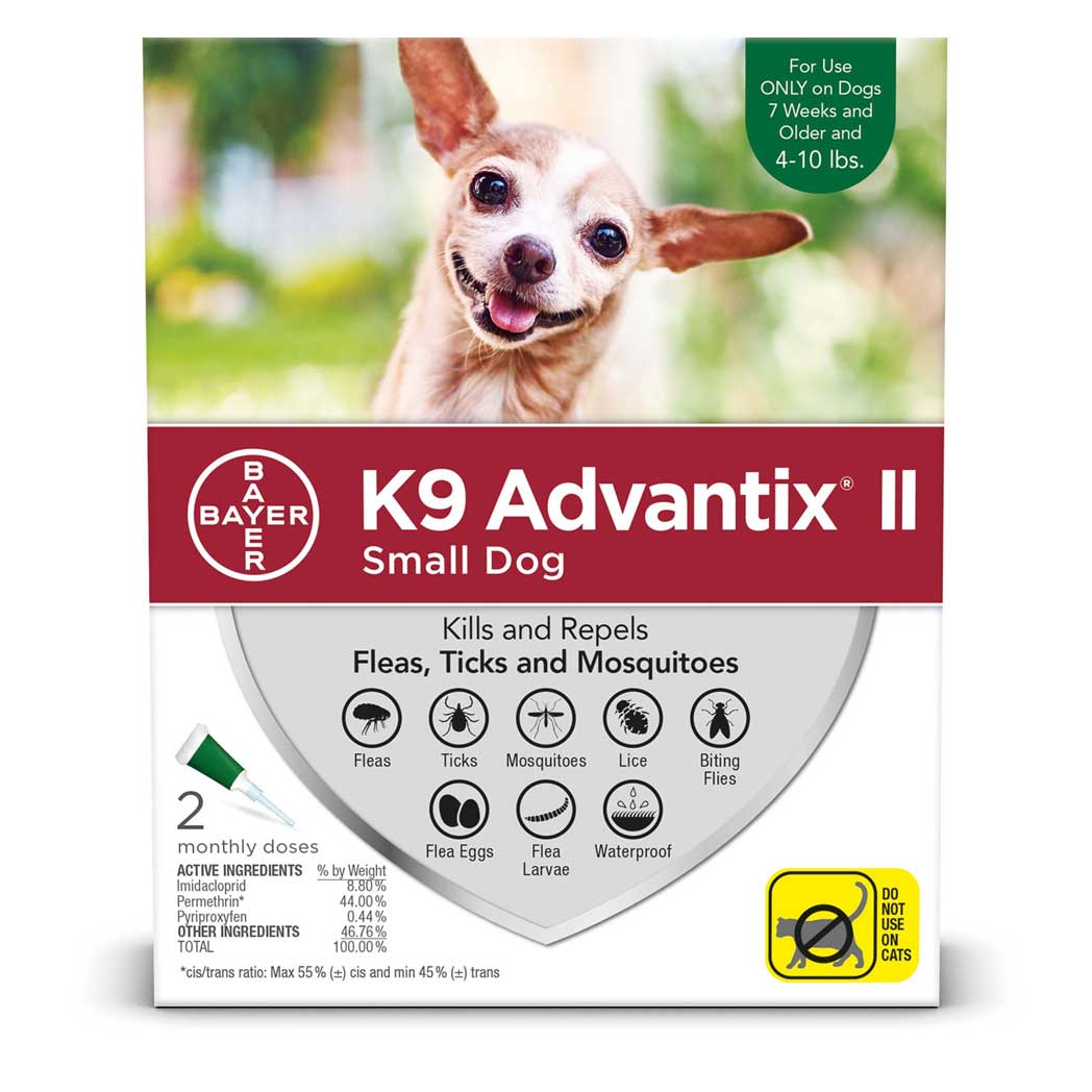 Advantix II for Small Dogs 1-10 lb. 4 pack