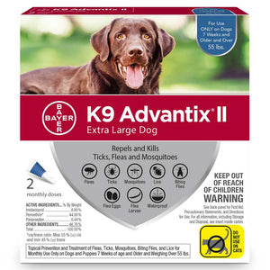 Advantix II for Extra Large Dogs 56+ lb. 4 pack