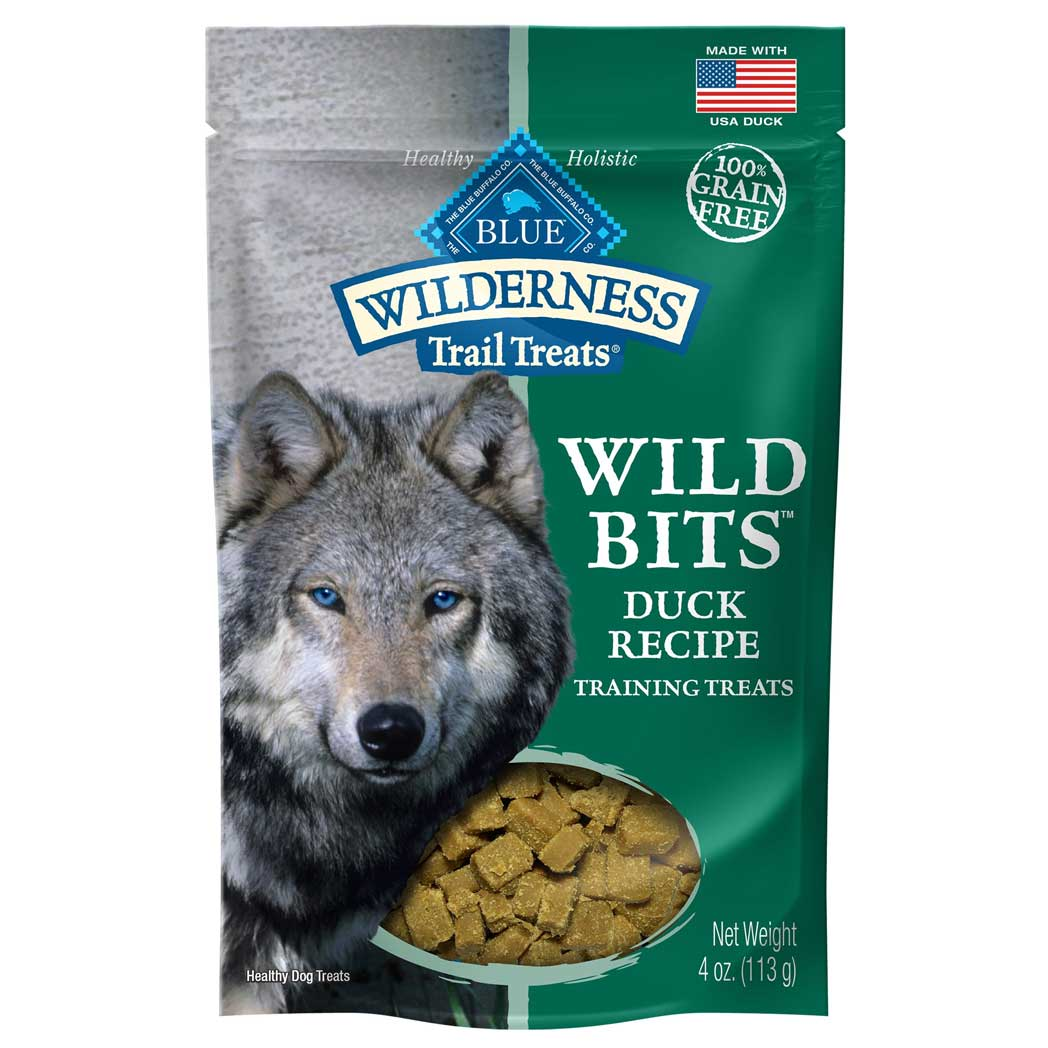 Blue Buffalo Wilderness Grain Free Trail Treats Duck Wild Bits Dog Treats
