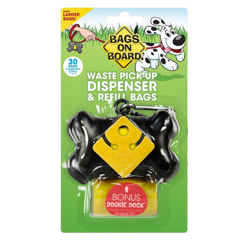 Bags on Board Dispenser - Black Bone