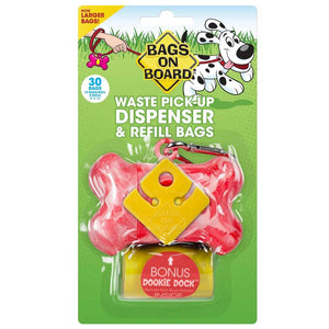 Bags on Board Dispenser - Pink Bone