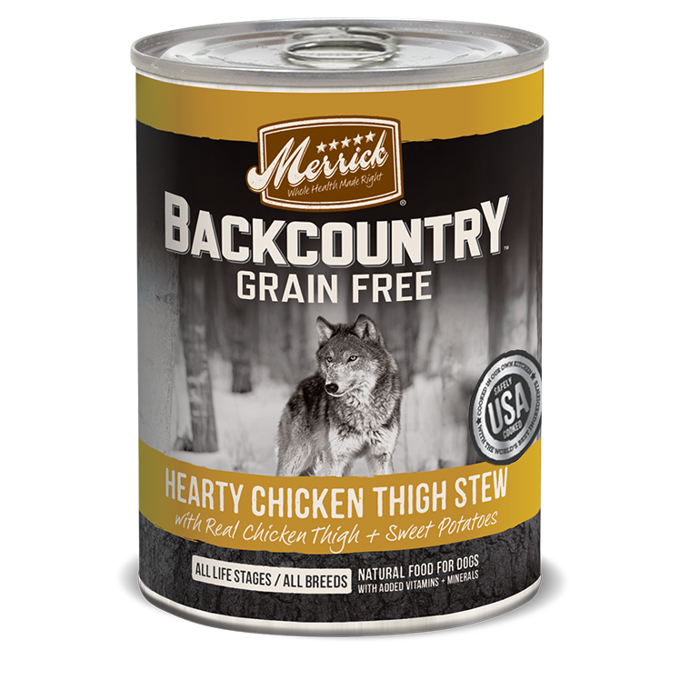 Merrick Backcountry Hearty Chicken Thigh Stew Wet Dog Food