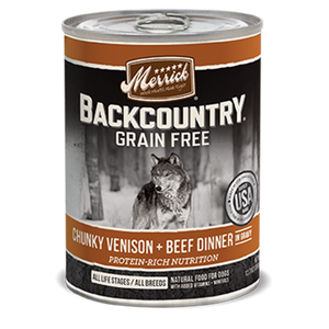 Merrick Backcountry Chunky Venison and Beef Dinner in Gravy Wet Dog Food