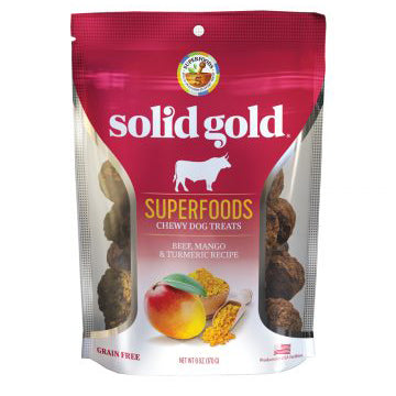 Solid Gold Superfoods Chewy Treats Beef, Mango & Turmeric Recipe